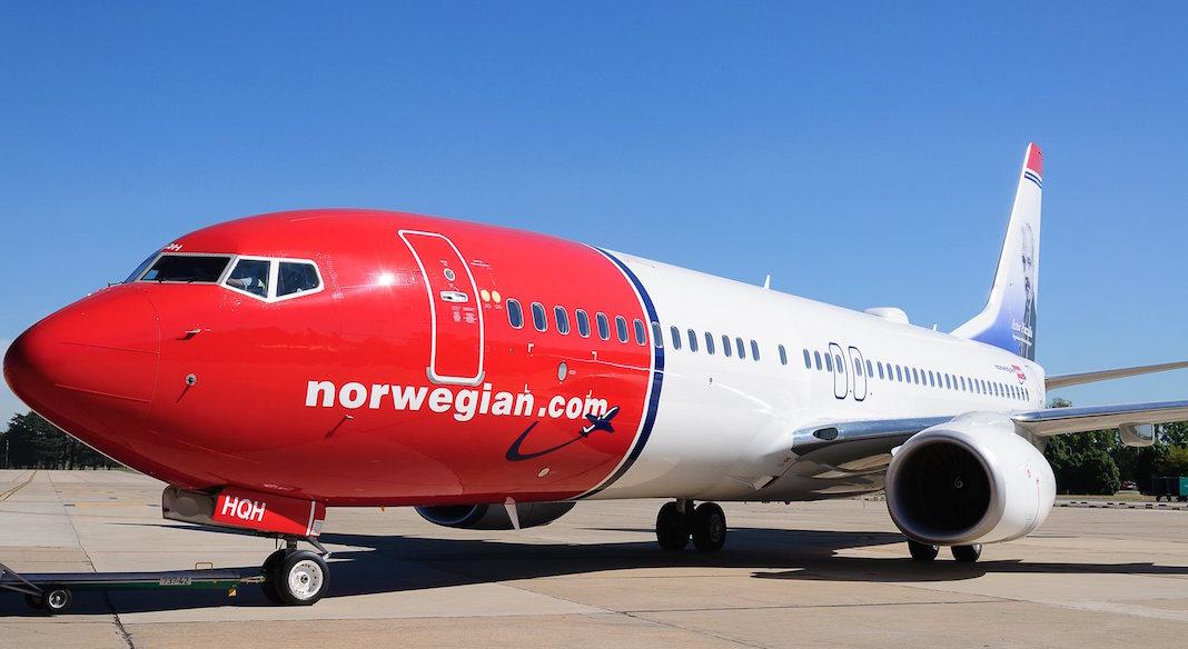 Avion de Norwegian Air Argentina