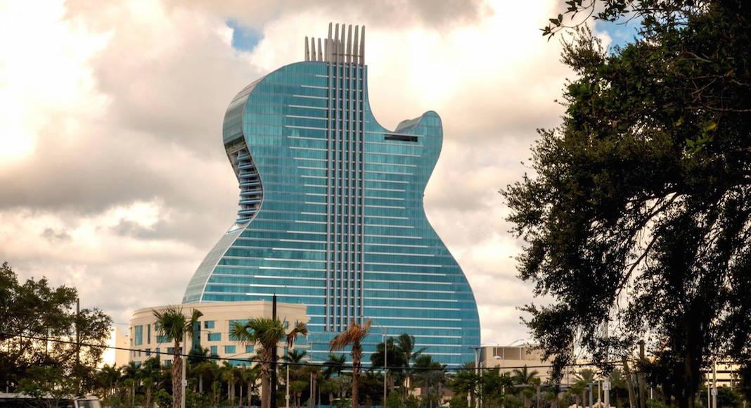 primer hotel con forma de guitarra del mundo