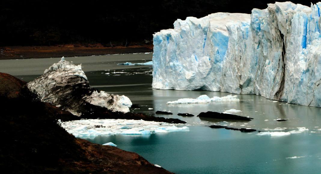 Glaciar Viedma con su lago en Santa Cruz