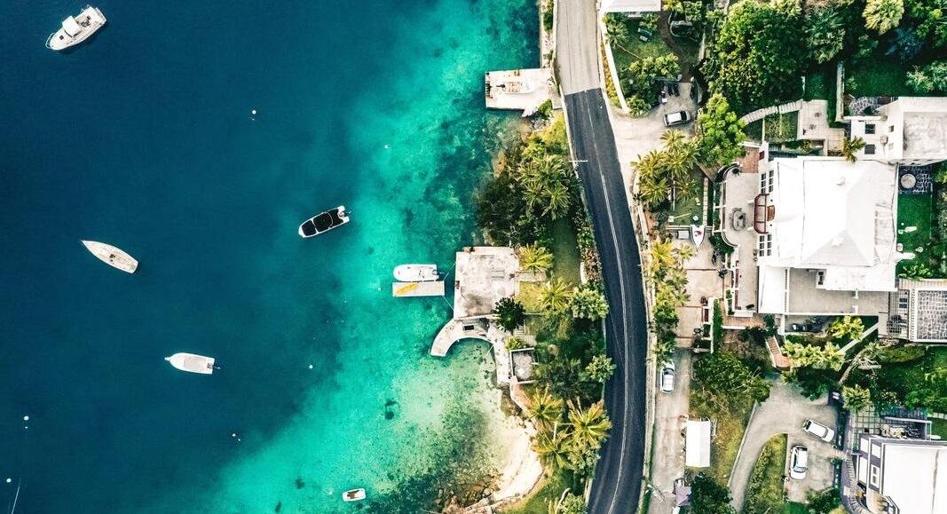 Vista de arriba de Islas Bermudas