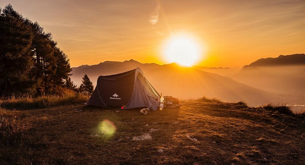 Atardecer en camping