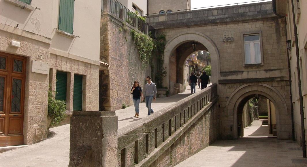Centro histórico en San Marino