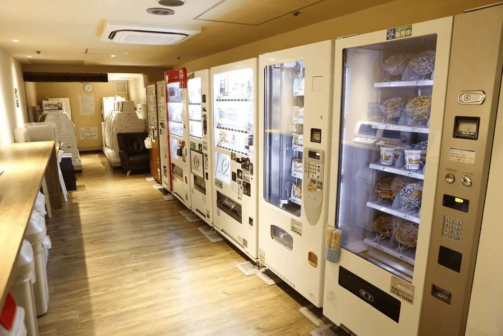 hoteles cápsula tokio maquinas expendedoras