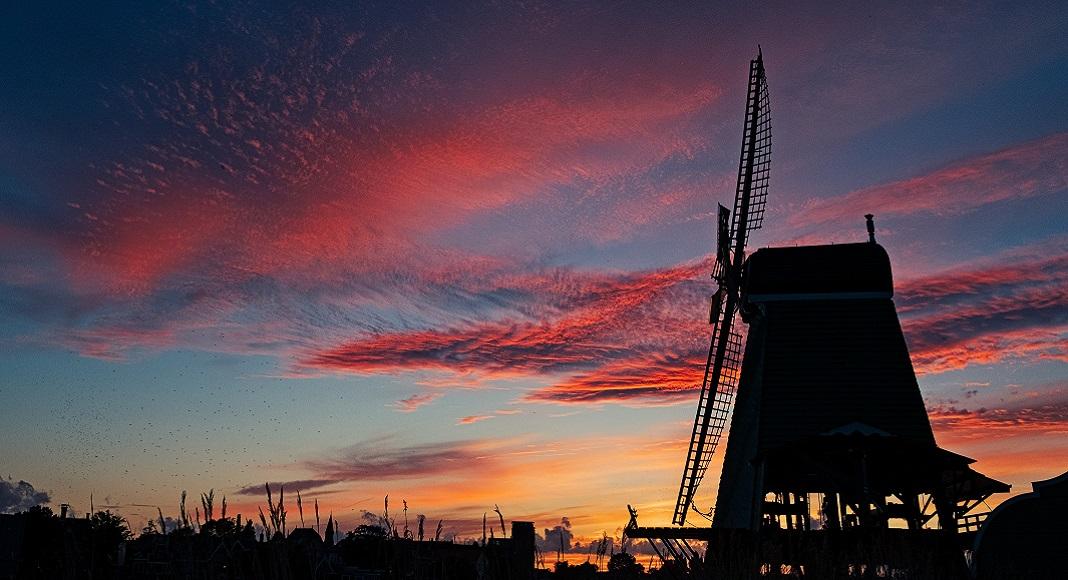 Molino en Zaanse Schans. Países Bajos