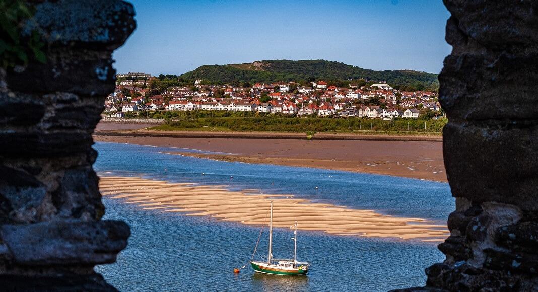 Playa en Conwy. Guía para viajar a Reino Unido